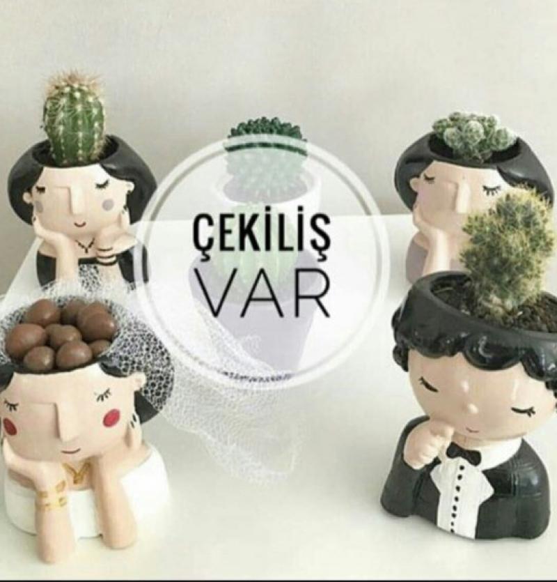 فروش عمده گلدان عروس داماد