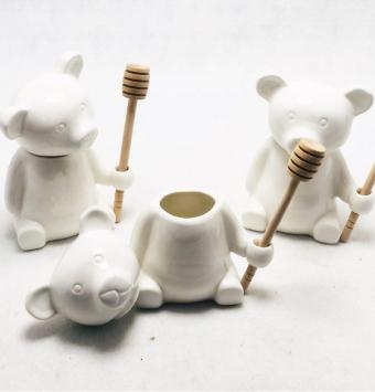 فروش عمده ظرف عسل خوری خرس