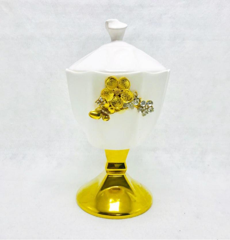 فروش عمده شكلات خوری درب دار طلایی