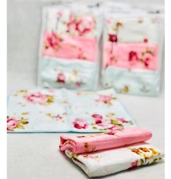 دستمال ٣تايي نانو گلدار