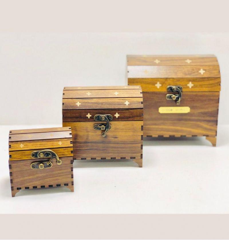 فروش عمده صندوقچه3تایی چوبی