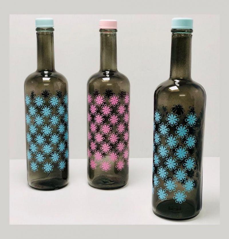 فروش عمده بطری هومیلادودی طرح شکوفه