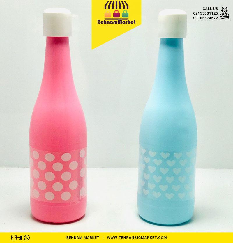 بطری آب پلاستیکی خالدار