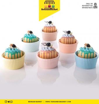 کاپ کیک وانسل رنگی