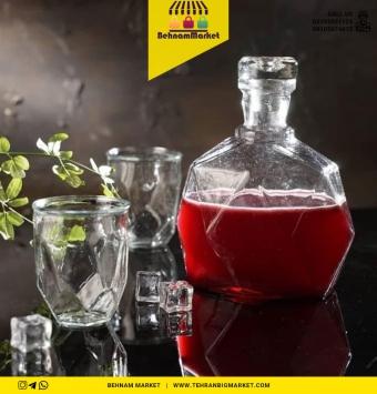 بطری شیشه ای تزئینی